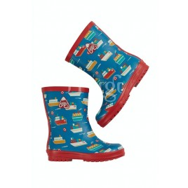 Frugi Puddle Buster Wellington Boots Sail The Seas