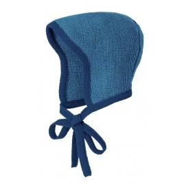 Disana Knitted Bonnet navy-lagoon