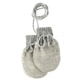 Disana Knitted Gloves grey-natural