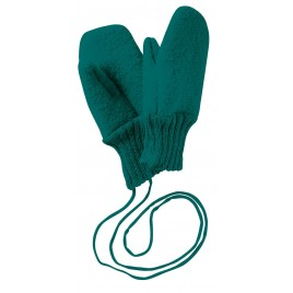 Disana Boiled Wool Gloves pacific