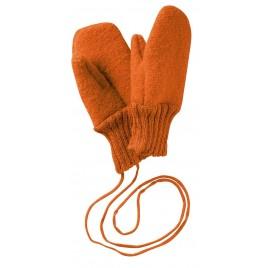 Disana Boiled Wool Gloves orange