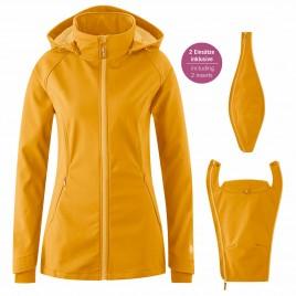 Mamalila Softshell Babywearing Jacket Allrounder mustard
