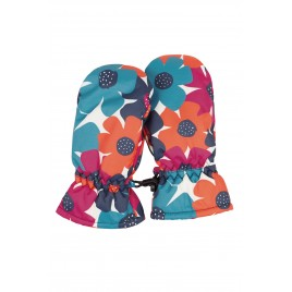 Frugi Snow and Ski Mittens Bright Floral