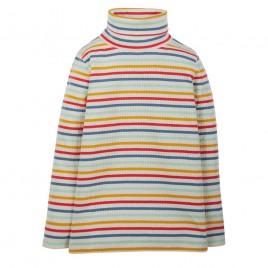 Frugi Ava Stripe Roll Neck Abisko Rainbow Stripe