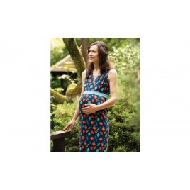 Frugi Summer Maxi Dress indigo floral