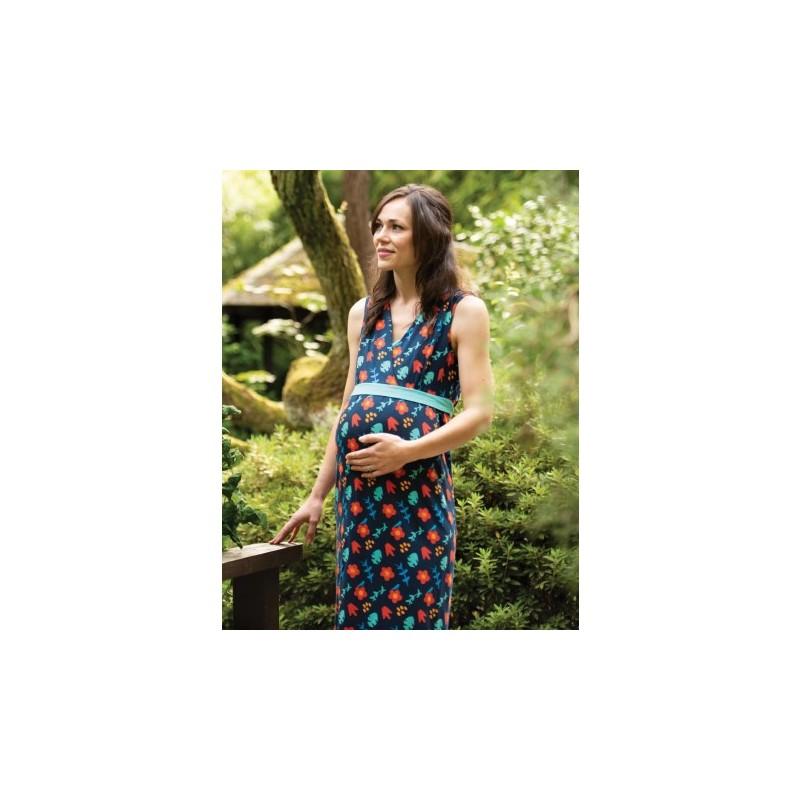 Frugi Summer Maxi Dress indigo floral