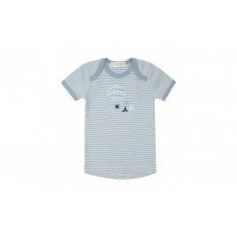 Sense Organics Tilly Baby Shirt S/S Faded denim stripes