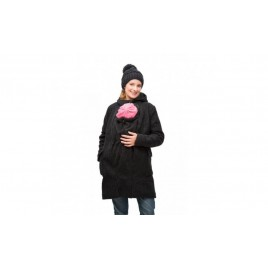 Mamalila Hooded  Babyweraing Coat Vienna antraciet