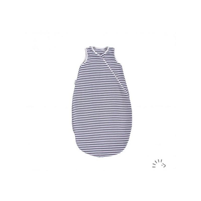 Iobio Sleeping Bag Sleeveless dark blue/écru