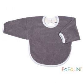 Iobio Long Sleeve Bib 30cm grey