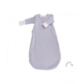 Popolini Sleeping Bag Vario Interlock/Teddyplush Grey-Ecru